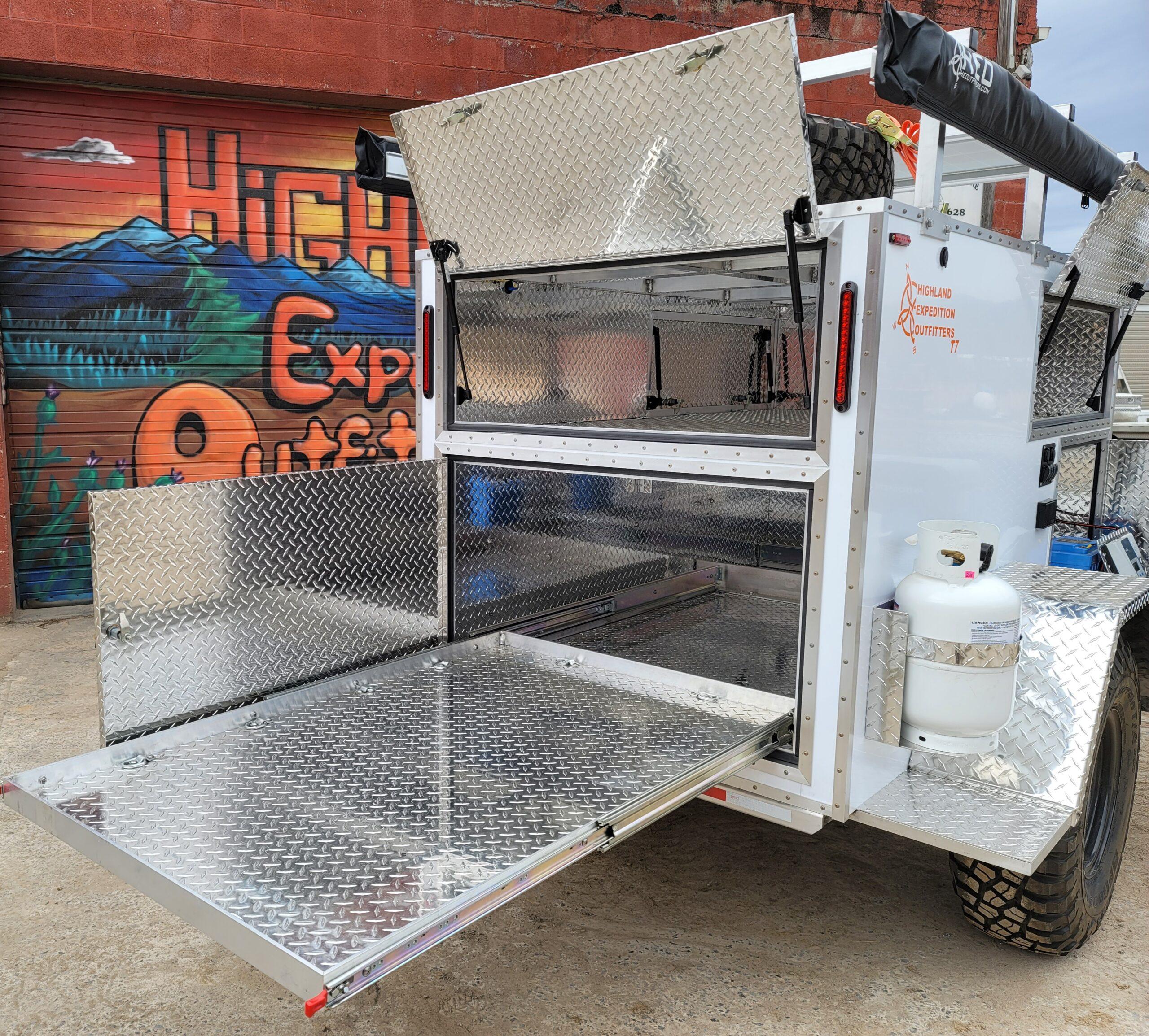 T7 Rear cargo slide and upper door & propane
